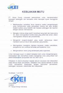 Kebijakan Mutu KEI_2016
